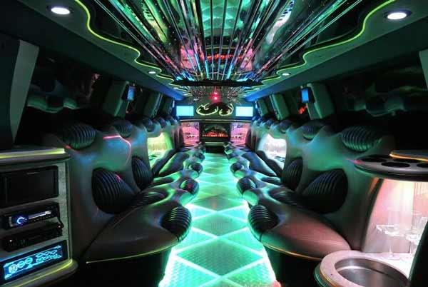 Hummer Limo Interior Fort Worth